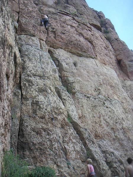 Nate Oakes leading White Punks on Pockets.  A few more feet to the top.