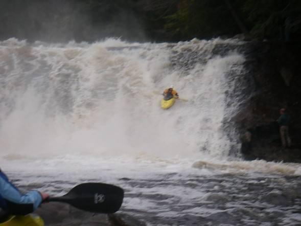 Me running Fowlersville falls, NY