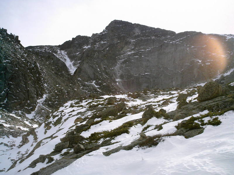 Is that tiny piece of ice on Chiefshead this route?