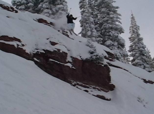 Austin Porzak in the Colorado BC.  Photo taken by Jeff Barnow