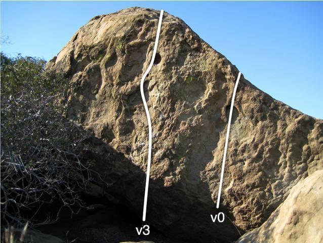 south face of Unnamed boulder #1.  summit boulders, east of Ummagumma