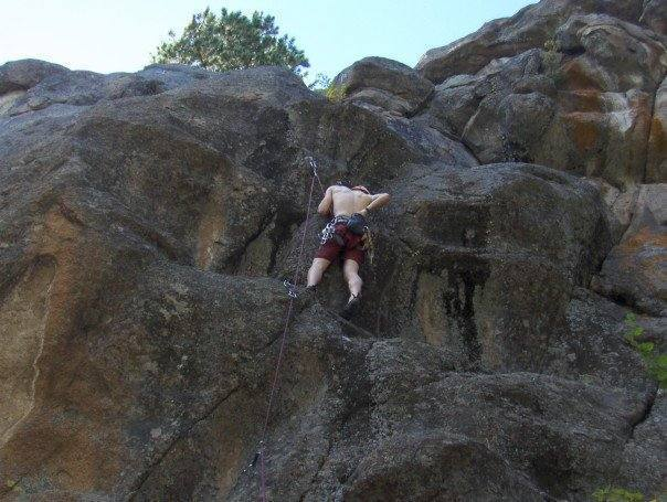some funky new sport lines at the obscure, mossy locals crag of Maxwell Falls in Evergreen, Colorado.