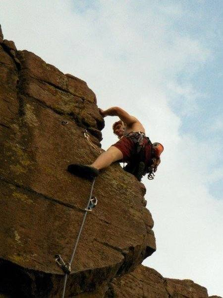 5.11a  arete on North Table Mt.