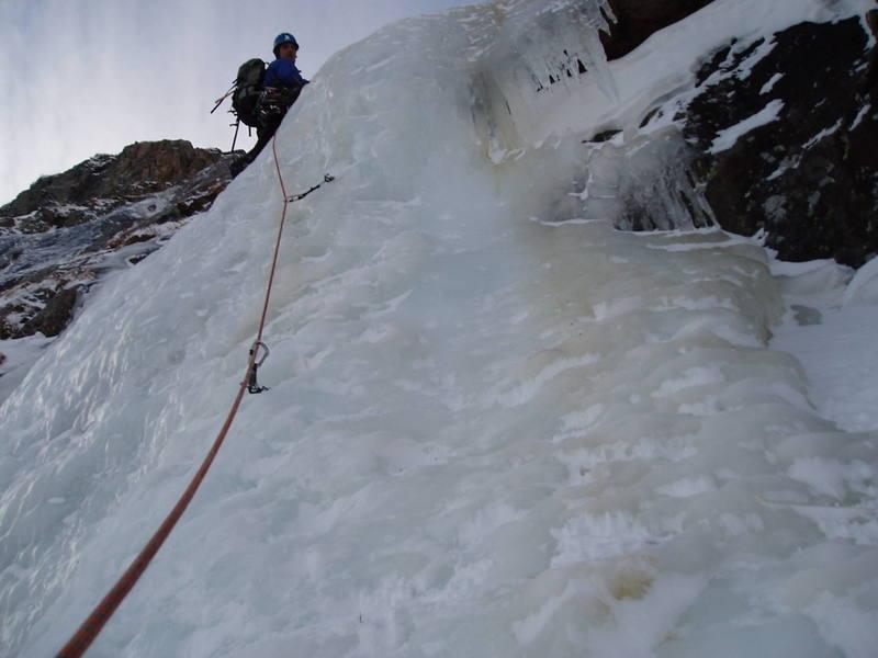 Third ice step on November 18th, 2007.