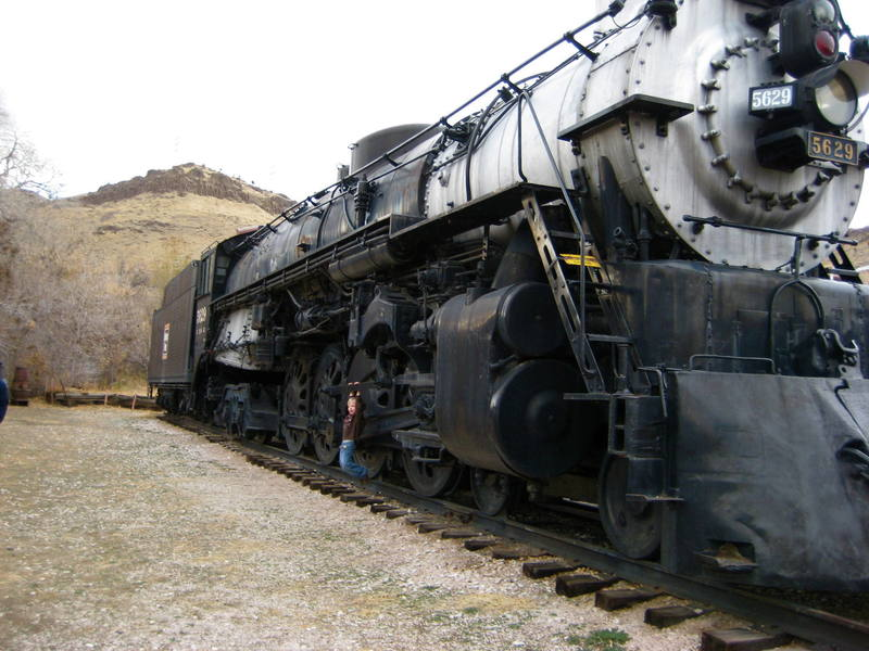 My son Colden at the Colorado Train Museum, 2007