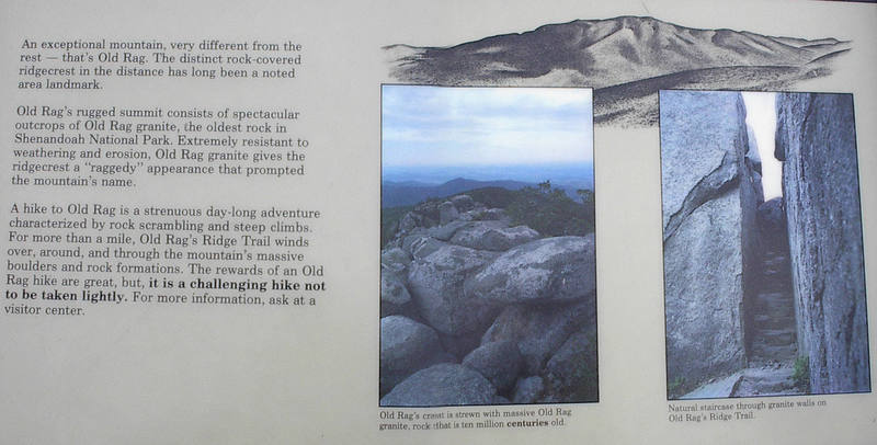The official trail head sign in Shenandoah National Park. A little over stated.