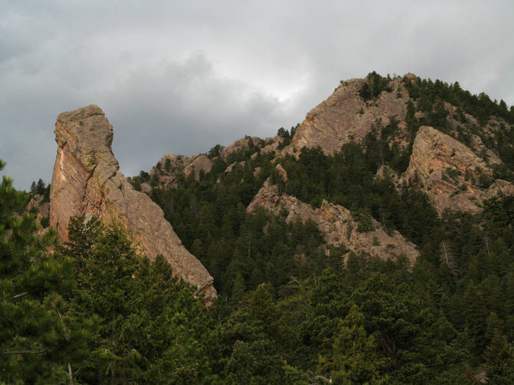 View from Shadow Canyon trail.<br> <br> Photo: Dave Fiorucci