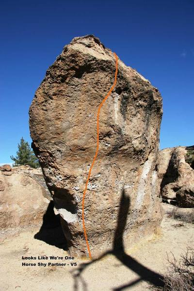 South Prow of The Devil Boulder Topo
