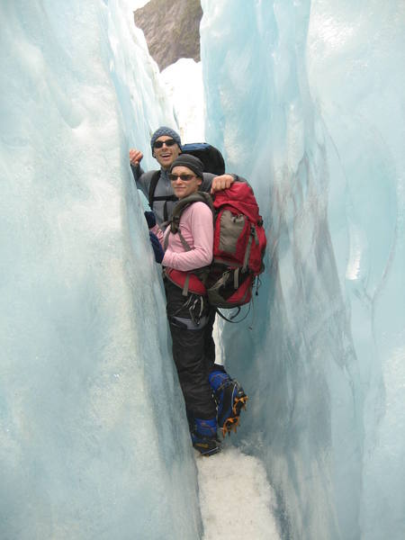 Natalie and I walking on (frozen) water in Franz Josef Glacier country.  I'm heading back to Southern California in December, but Natalie is staying here for 3 more months to work as an ice climbing instructor for the kiwi summer!