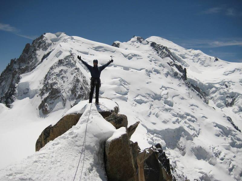 Mt. Blanc from Cosmique Arete