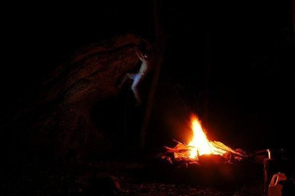 night bouldering at the campsite<br> <br> photo: robbie burnham