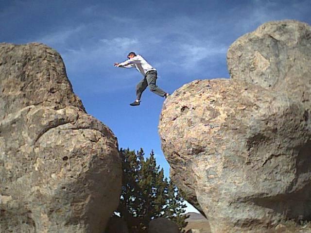 Standard City of Rocks descent.