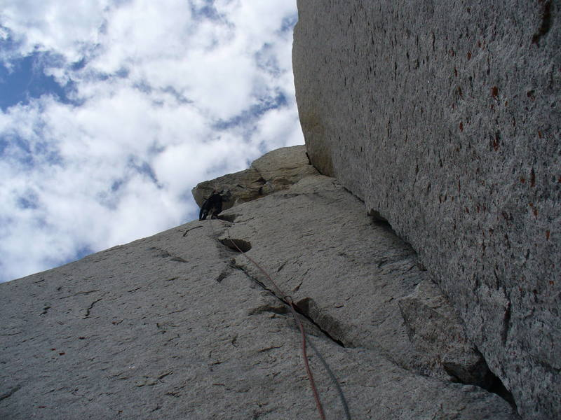 Me on the second pitch of McTech Arete.