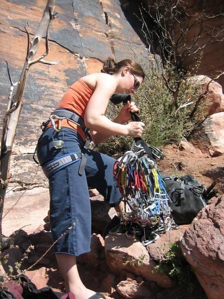 Lindsay racking up below a very nice splitter.