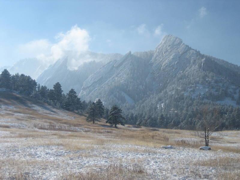 Flatirons in Winter (Thanksgiving, 2007).