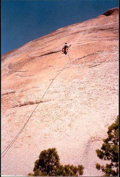 Headed to the 1st belay