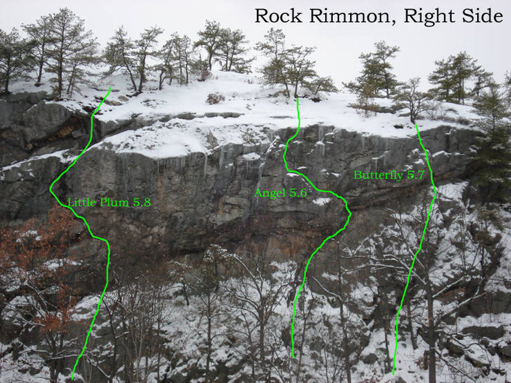 A few good routes on the right side of Rimmon...