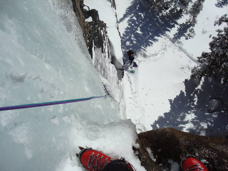 Just past the crux section of the Squid.