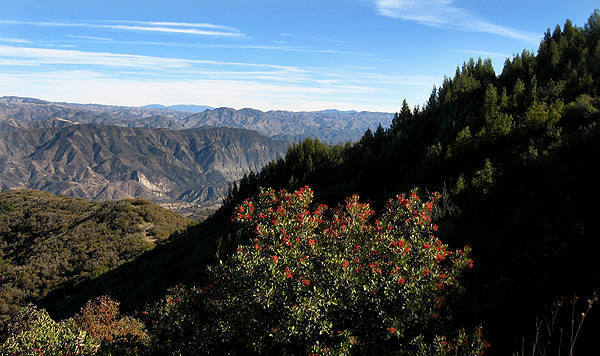 Looking east from near La Cumbre Peak, above Gibralter Rock.<br> Photo by Blitzo.