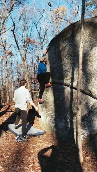 Toe Jam...one of the many boulders lost to development.