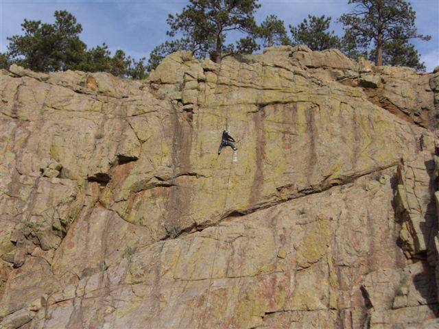 Upper Sylvan Dream....harder climbing than below..mostly 5.9 through this section.