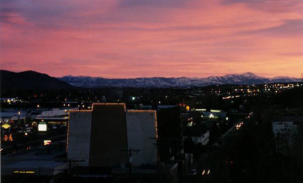 """Cartoon City"" (Carson City) sunset.<br> Photo by Blitzo."