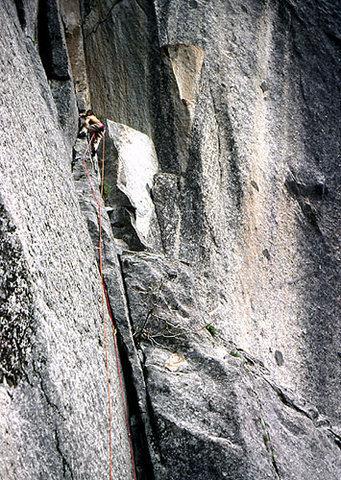 Climbing at Calaveras Dome, Ca. 1980.<br> Photo by Blitzo.