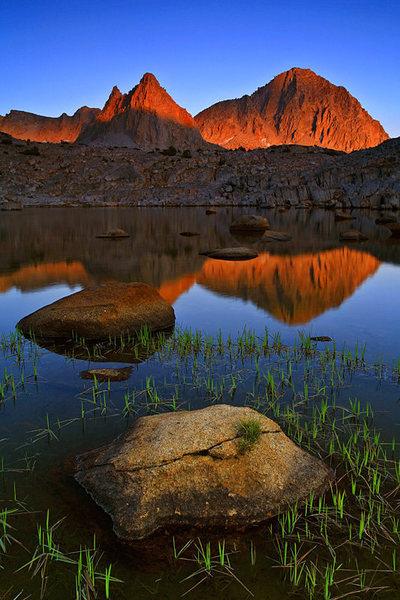 Isosceles Peak and Columbine Peak from Dusy Basin - July 2007
