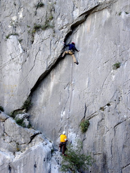 """Phil stepping out of the hueco on """"Milk Cow Blues""""."""