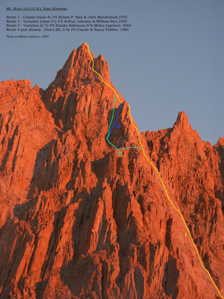 Alpenglow on East Buttress of Mt. Muir