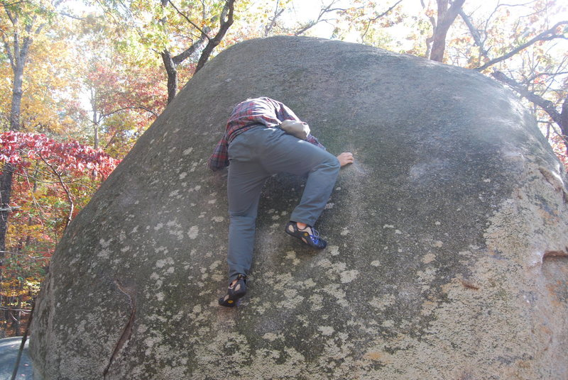 Moving through the crux.  Despite the baggy pants holding me down.