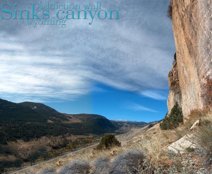 sinks canyon Addiction wall