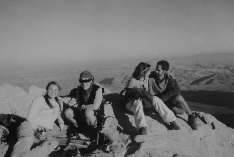 Leisha, Anna, Gigi, and Jonny on the summit of Bridge Mountain, Red Rock.