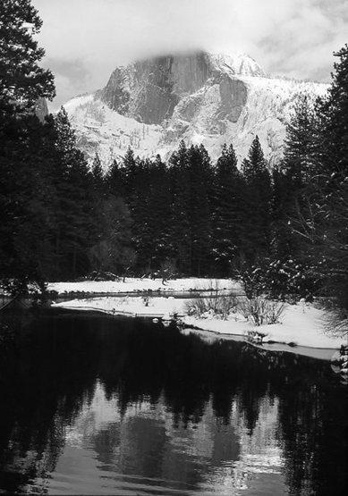 Half Dome-winter.<br> Photo by Blitzo.