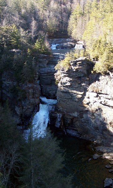 Linville Falls.  This is where the Gorge starts.