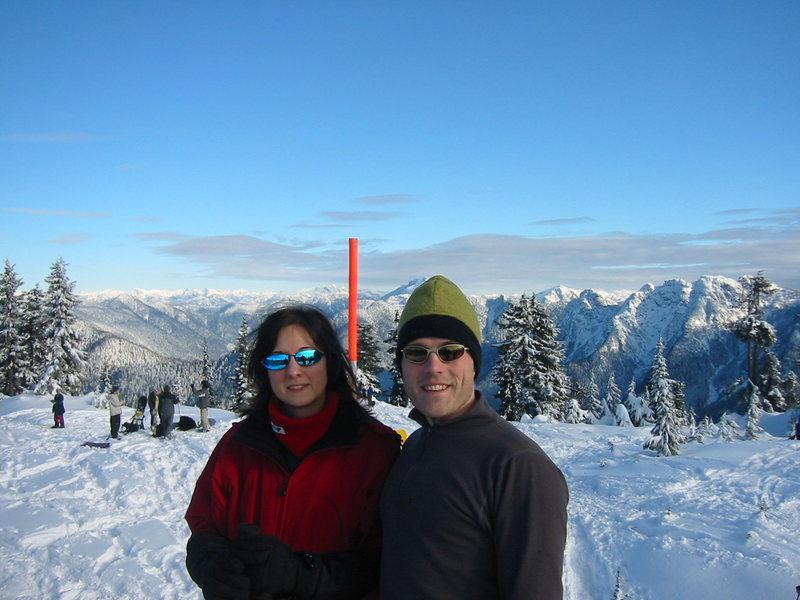 Joanne and I on Hollyburn Peak.