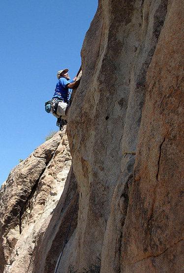 Climbing at Brian's Crag.<br> Photo by Blitzo.