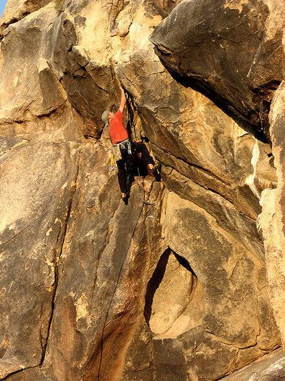 Climbing near the Boy Scout Trail.<br> Photo by Blitzo.