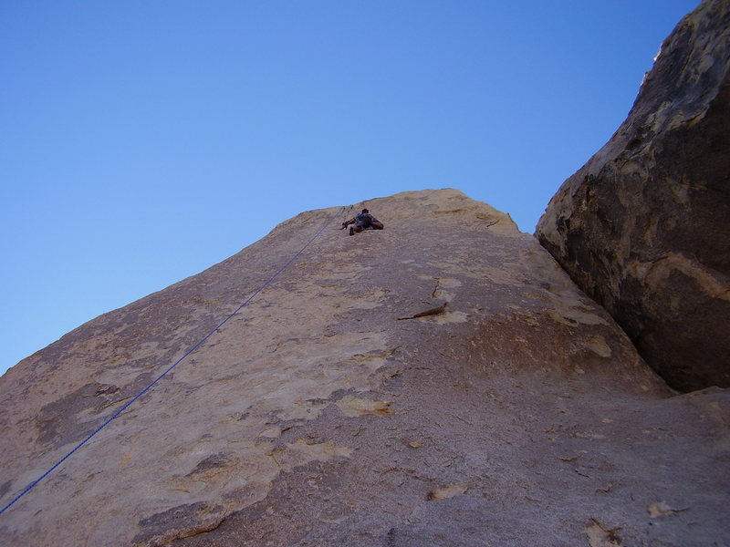 Climbing the upper section of Run for your life