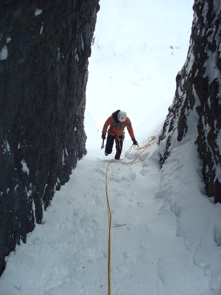 Walking up to the Belay