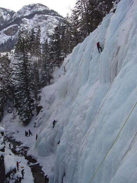 A quiet day at the Ouray Ice Park 2008