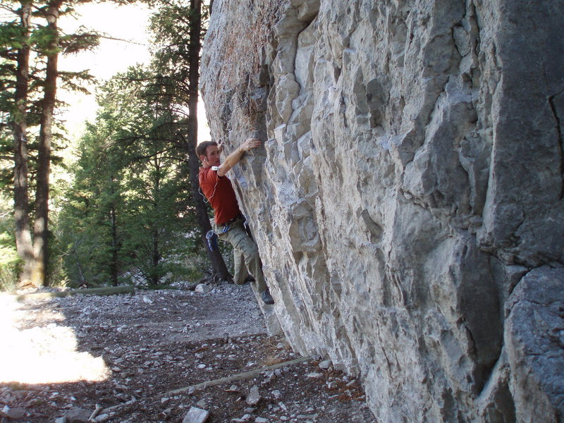 Getting a morning workout on the Blacktail Boulder Traverse