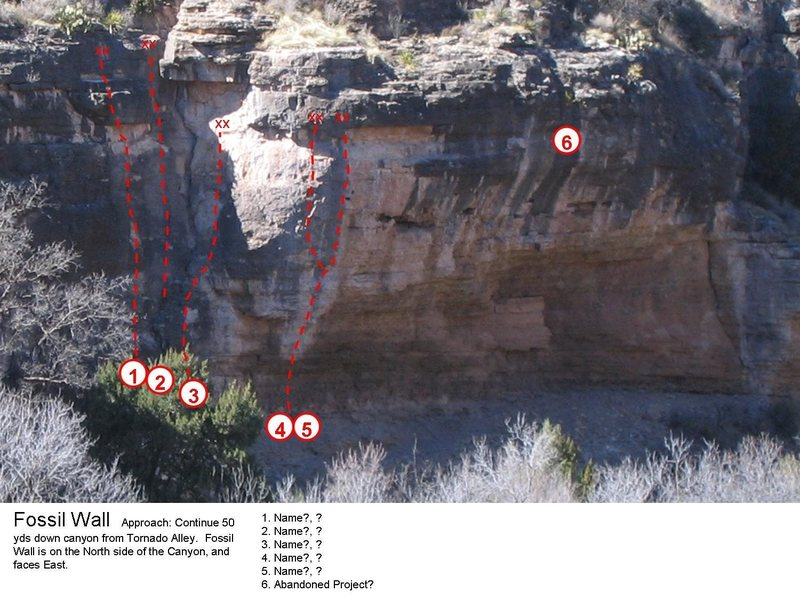 """Beta for the """"Fossil Wall"""".  Apparently routes 4 & 5 are 12a and 12b (not sure which is which)"""