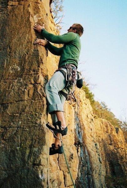 Me on Comotus, Roman Wall, Horseshoe Canyon Ranch, Ark.