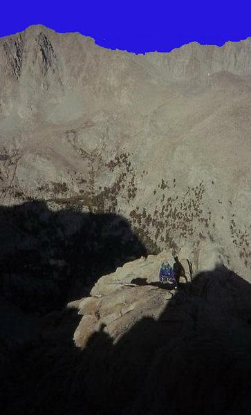 Near the summit of Lone Pine Pk