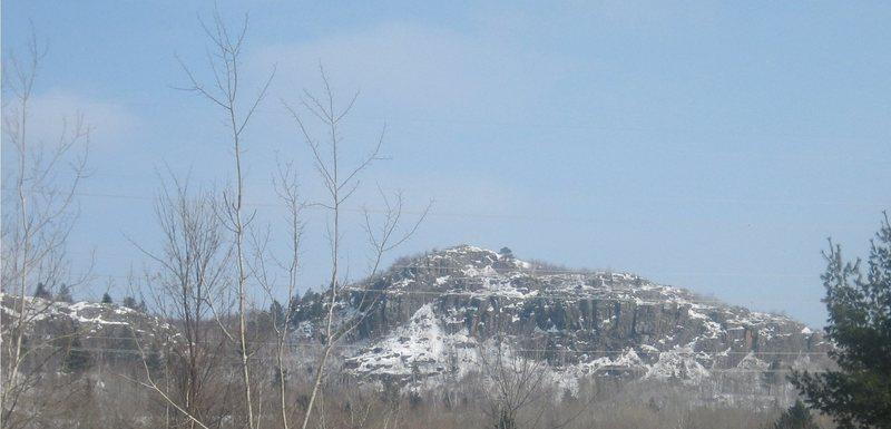 Ely Peak as seen from the highway.