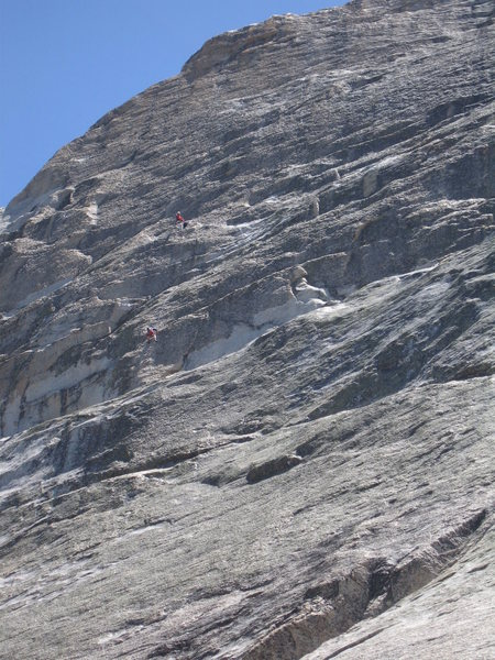 2 unknown climbers on Crying Time Again