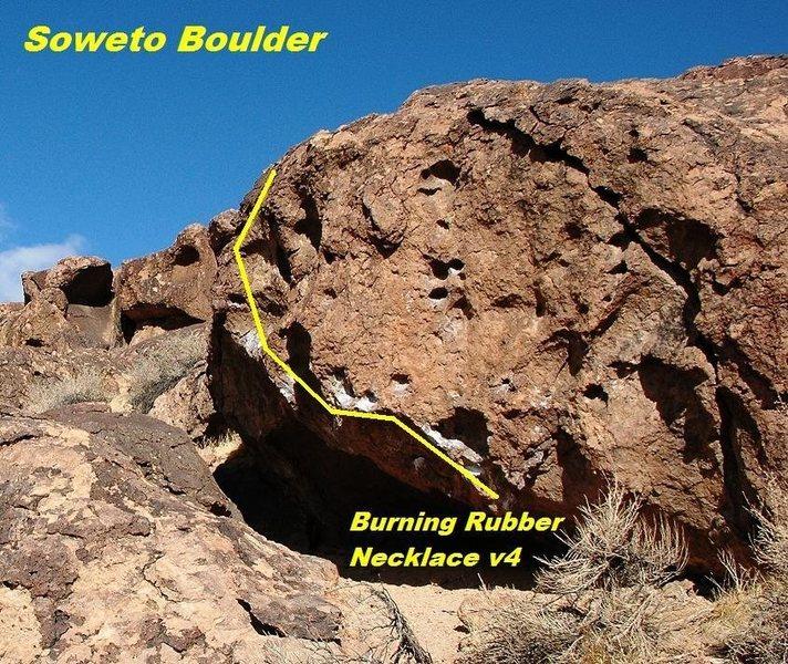 Soweto Boulder (Burning Rubber Necklace)