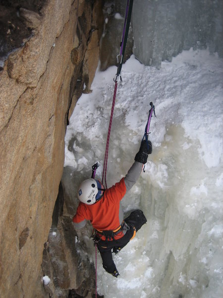 Toping out on Hidden falls