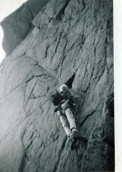 Mike Roybal on Aid pitch South Face